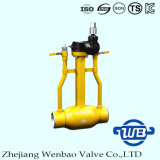 St37.0 Underground Fully Welded Ball Valve mit Trunnion Mount