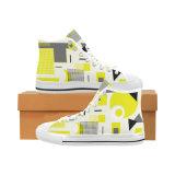La aduana de la fábrica de Dropshipping hace las zapatillas de deporte de la lona diseña sus propios zapatos con la impresión de Sublimaition