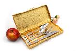La 18/10 cuchillería real del acero inoxidable 16PCS fijó para las personas de la porción cuatro