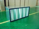 Фильтр Hv HEPA, фильтр V-Крена ULPA большой емкости и промышленный воздушный фильтр