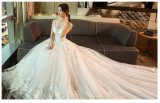 2017 A - ligne robes de mariage nuptiales de lacet Wd502