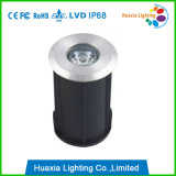 IP68 mini luz subacuática caliente inoxidable del blanco LED del acero 1W