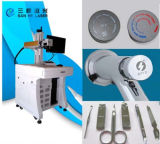 Metal amplamente utilizado do carregador do carro do telefone da impressão de laser da máquina da marcação do laser da fibra