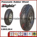 Qingdao 고품질 반 압축 공기를 넣은 5 인치 회전대 고무 피마자 바퀴