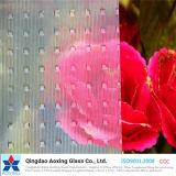 Vidro de padrão de folha para vidro de construção com boa quantidade