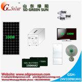 del basamento 330W sistema domestico solare da solo