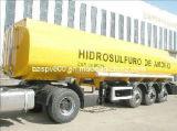 de l'acier inoxydable 30000L de carburant de camion-citerne bas de page semi