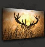Искусствоо стены дешевого самого лучшего качества крупноразмерное вися печати холстины Frameless Deers