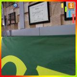Bandeau publicitaire s'arrêtant de décorations de contexte d'intérieur de tissu