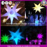 Kleurrijke Opblaasbare Opblaasbare LEIDENE van de Decoratie van de Partij van de Ballon van de Ster Lichte Ster