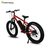 Bici eléctrica de la arena gorda del neumático del color rojo con la batería de Samsung