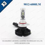 Lmusonu X3 9012 LEDのヘッドライト12V 25W 6000lm自動車LEDのライト