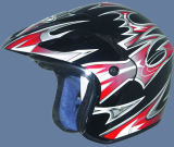 Halve Helm (201-Black&Red)