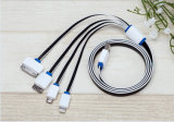 최신 판매 4 iPhone (LCCB-045)를 위한 In1 USB 비용을 부과 케이블