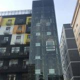 HOME comercial da cápsula de vidro fora do elevador residencial