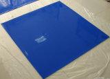 Folha azul da borracha de silicone da cor, membrana do silicone