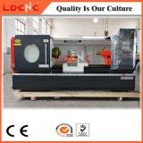 Preço de giro horizontal da máquina do torno do metal do CNC da precisão grande do furo de eixo