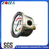 1.5 Indicateurs de pression remplis par glycérine axiale de vide d'Inch/40mm avec le cadran coloré pour l'attention