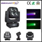 4*60W RGBW 색깔 단계 빛 LED 이동하는 맨 위 세척