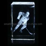 Cubo de Hocky del hielo del laser del cristal 3D (ND7017)