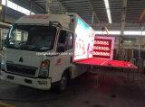 Sinotruk 4*2 LED móvil que hace publicidad del carro con la etapa de la promoción