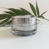 vaso crema acrilico d'argento di lusso 15/20g per l'imballaggio di Skincare (PPC-NEW-137)