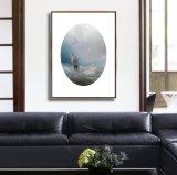 Maschera decorativa di arte della parete della pittura della tela di canapa dell'olio di vista sul mare di HD con il blocco per grafici
