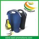 Sacchetto del dispositivo di raffreddamento della bottiglia del Tote dell'elemento portante del vino del neoprene isolato doppio per la corsa/picnic