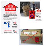 포장하는 품질 관리 레이블 안전 표시 스티커 표시기를 기울이기