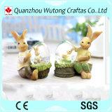 Изготовленный на заказ рисунок глобус кролика пасха смолаы украшения праздника промотирования снежка