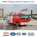 BinnenTank van de Vrachtwagen van de Brand van de Cabine van de Rij van Dongfeng 4ton de Dubbele