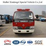 Camion de pompiers de Dongfeng 3ton avec le réservoir exposé