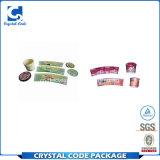 Alta calidad PP coloridos Resuable en escritura de la etiqueta de la etiqueta engomada del molde