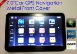 Sistema de navegação novo do GPS do carro de 7.0inch HD com módulo RS232 do TMC, Avoirdupois-na câmera do estacionamento, Bluetooth, mapa do GPS do Preload