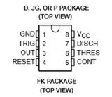 Circuito integrato Ne555 di CI di sincronizzazione monolitica di precisione