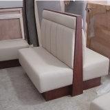 Sofá de cuero de madera del comedor del estilo moderno
