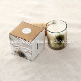 Vela orgánica sospechada jardín mojado de la cera de la soja con la caja de cartón de gama alta