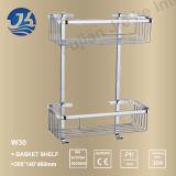 Étagère nette de crémaillère de mémoire d'acier inoxydable d'accessoires faisants le coin de salle de bains (W30)