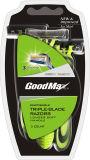 Dreifaches Blatt-wegwerfbares Schweden-nicht rostendes Blatt, das Rasiermesser (Goodmax, rasiert)