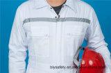 Da segurança longa da luva do poliéster 35%Cotton de 65% uniforme elevado de Quolity com reflexivo (BLY1021)