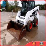 chat sauvage Mini Skid Steer Wheel Loader (s160) de 59kw/Diesel-Engine Used Small