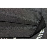 Het in het groot Embleem die van Spandex van de Polyester de Zwarte T-shirt van de Bevordering afdrukken