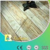 plancher en stratifié V-Grooved du chêne AC4 gratté par main de 12.3mm