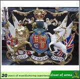 Emblème royal de l'aluminium 3D pour Buildiing