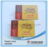 Carte de PVC de membre d'hôtel d'impression excentrée