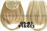 Frange étendue de cheveu de Double-Couleur de cheveu de frange de côtés de bonne qualité de synthétique
