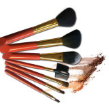 Red Series Beleza Equipamentos Red Handle Black Hair Makeup Brushes