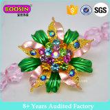 卸売のための高品質のエナメルの花の形のブローチ