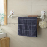 Doppio Stainless Steel Bar Towel Holder con Suction Cup Brackets
