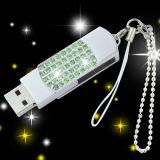 Lecteur flash USB en cristal d'émerillon en métal de mémoire de flash USB